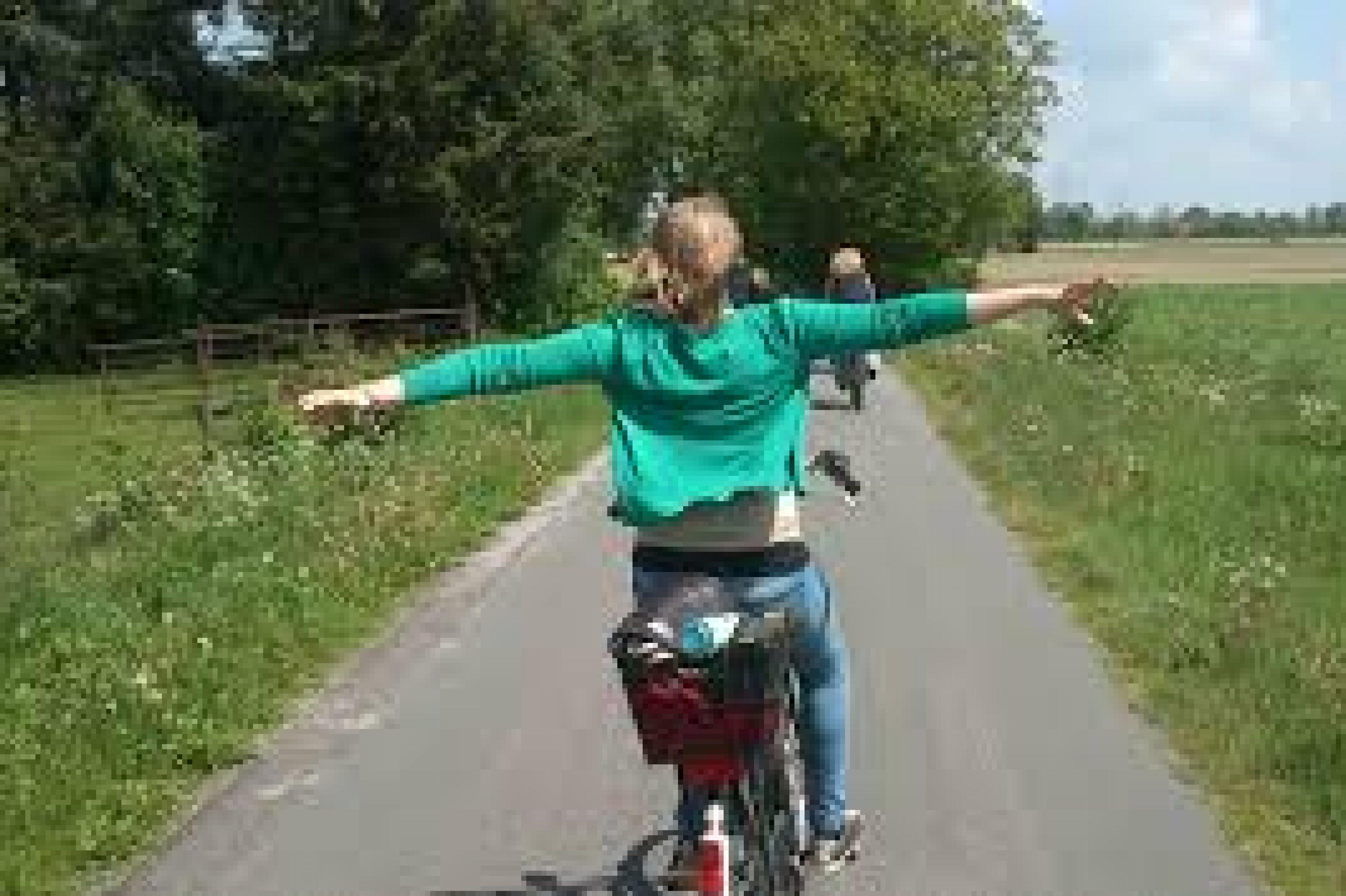 Fahrradneubaustrecke im Test