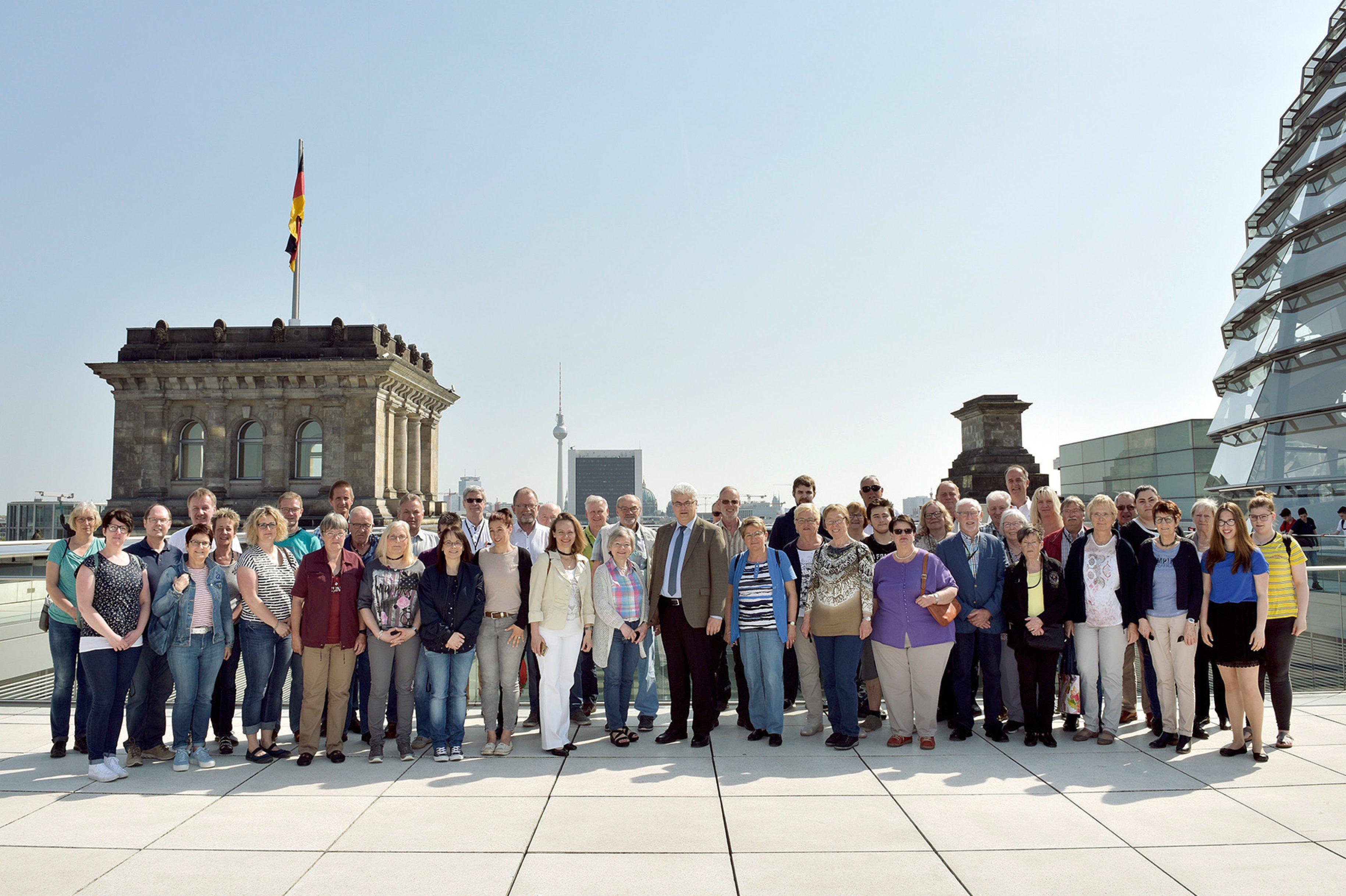Bürger aus Wahlkreis erkunden das politische Berlin
