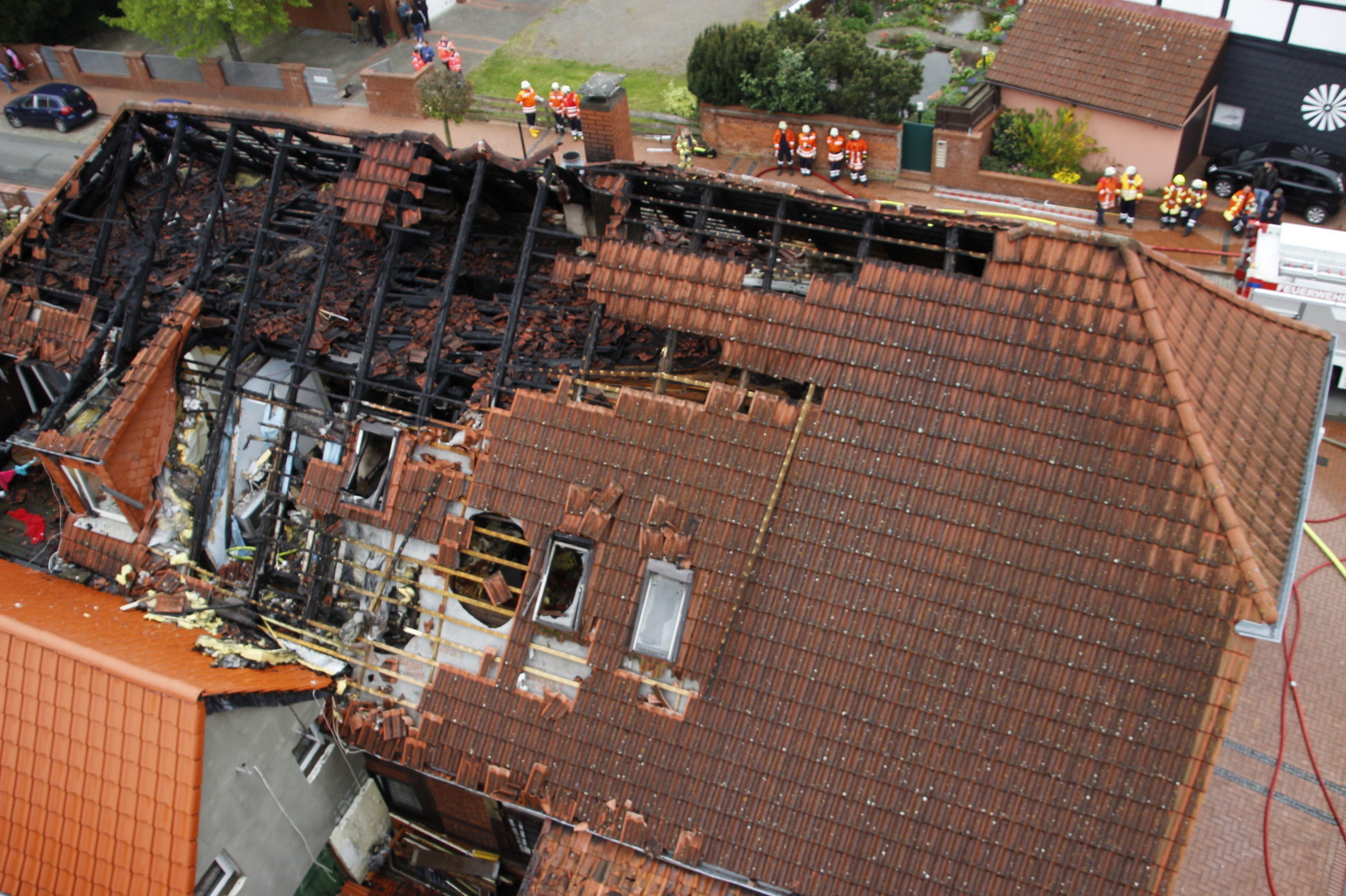 Dachstuhlbrand in Stolzenau