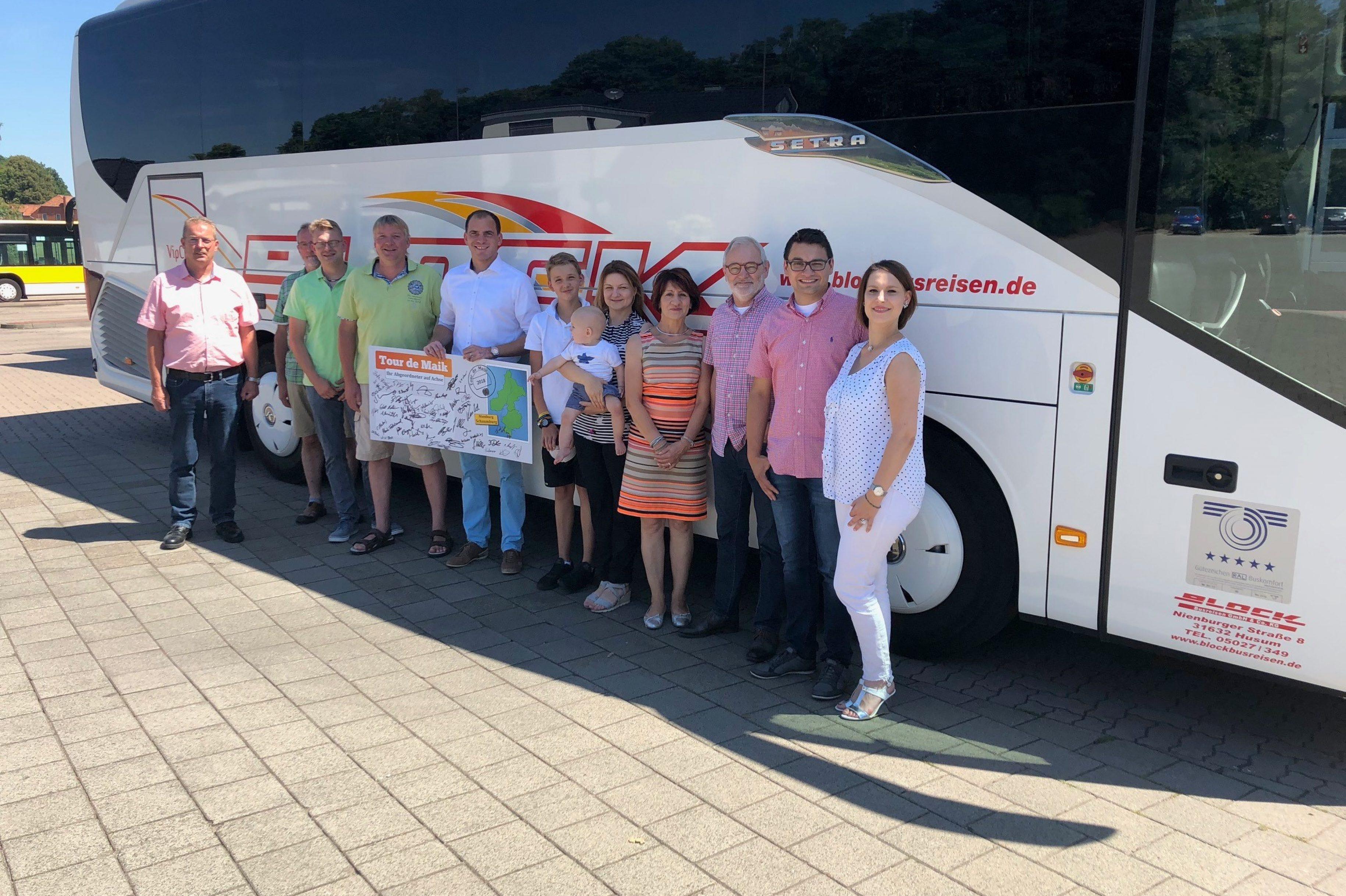 """Tour de Maik"" bei Block Busreisen in Husum"