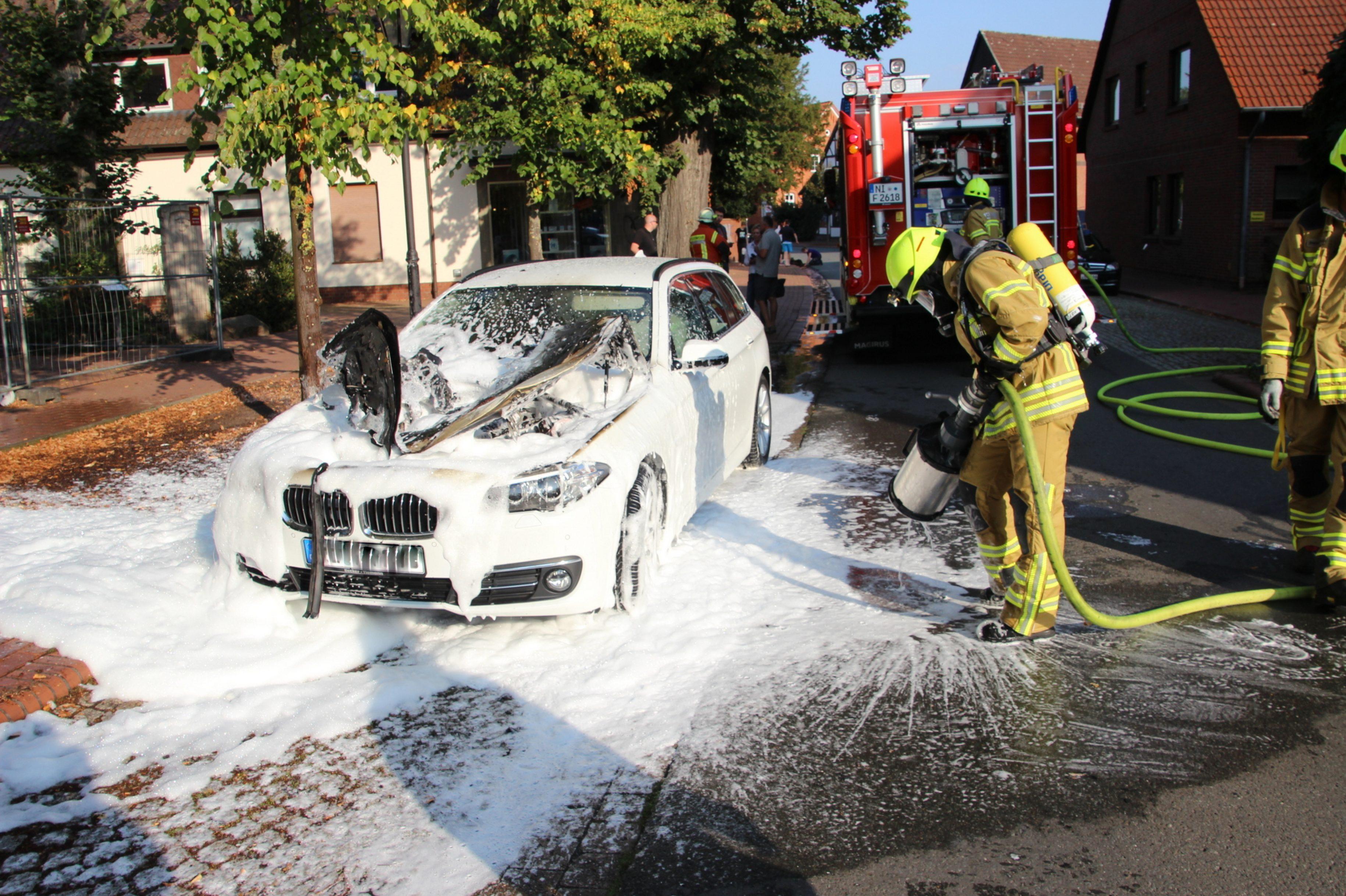 Fahrzeugbrand in Stolzenau