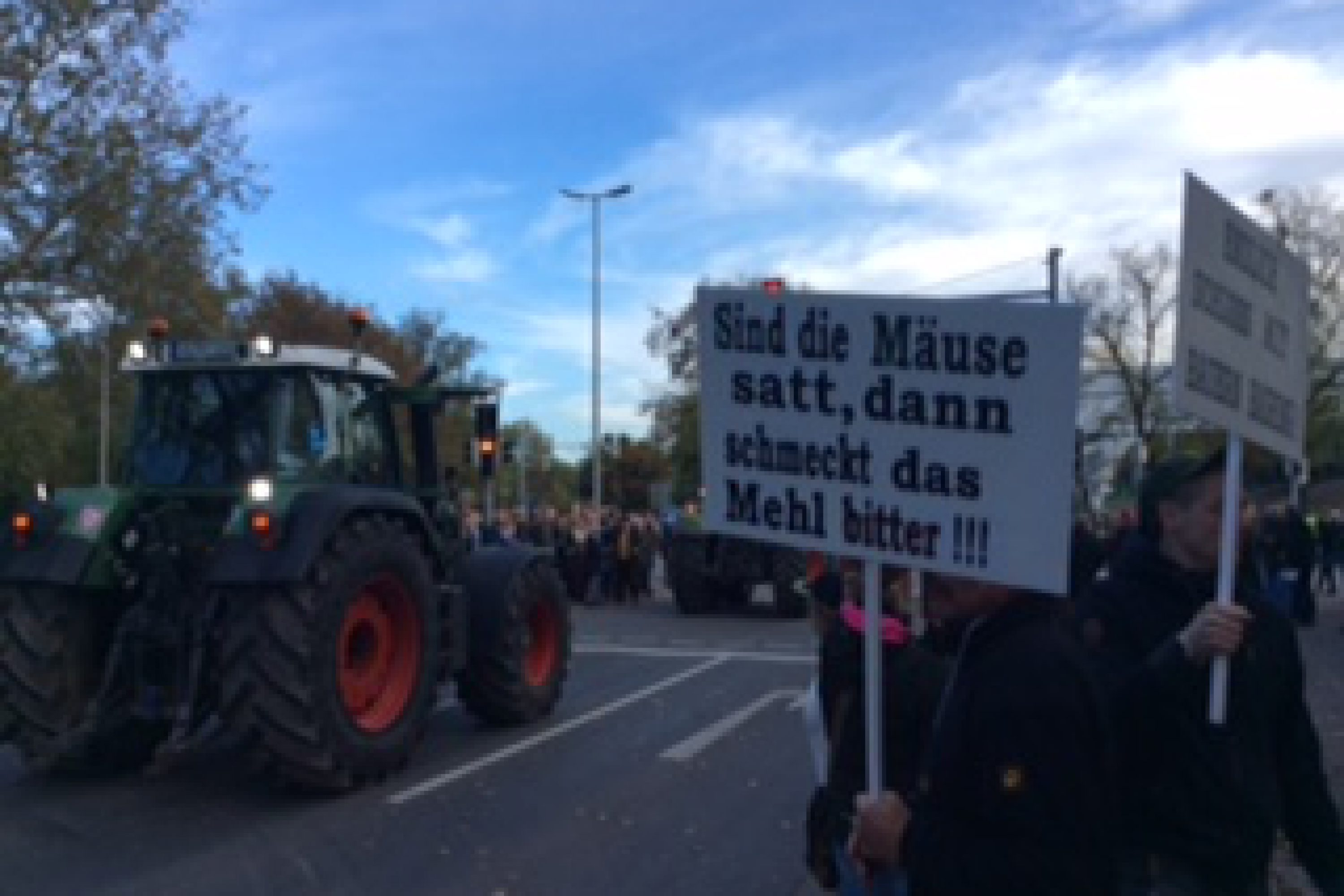 Treckerdemo in Hannover