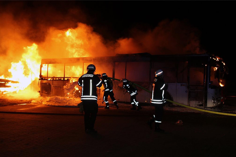 Busbrand in Nienburg